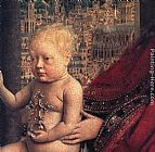 Jan Van Eyck Wall Art - The Virgin of Chancellor Rolin [detail 2]